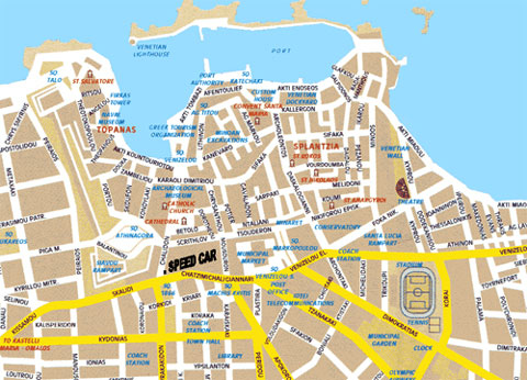Speed Rent A Car - Map of Chania
